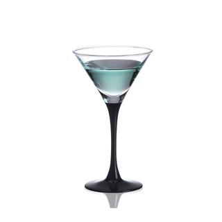 140ml黑色高腳雞尾酒杯常用洋酒杯三角杯香檳杯高腳杯創意酒具