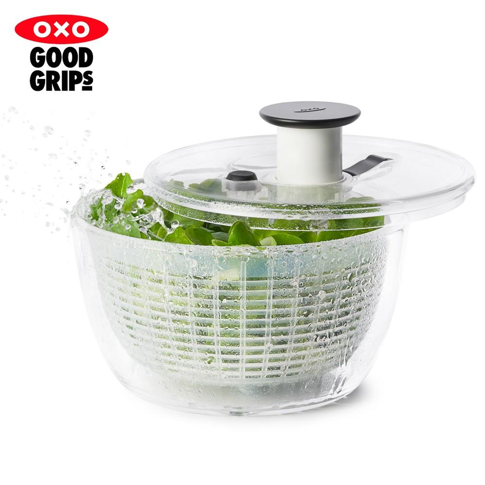 【OXO】按壓式蔬菜香草脫水器V4-小 (快速脫水/單手按壓/蔬果瀝水)