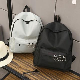 當天出貨包包後背包女生帆布純色百搭學生書包旅行包出國輕便大容量肩背包 韓妞 氣質甜美生日