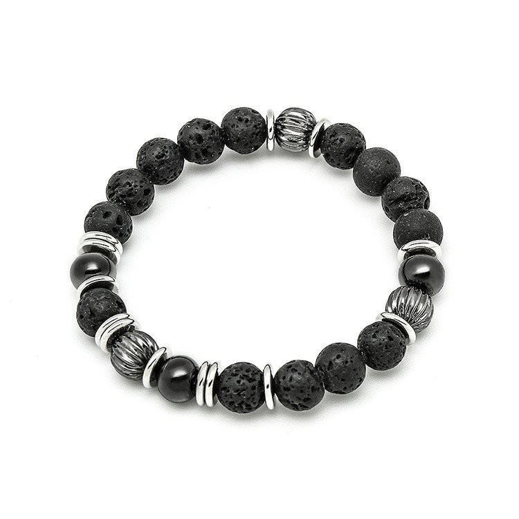 玉米潮流本舖 SOLO 簡約天然串珠手環 SB0050-A 黑隕石 / SB0050-K 黑瑪瑙 現貨