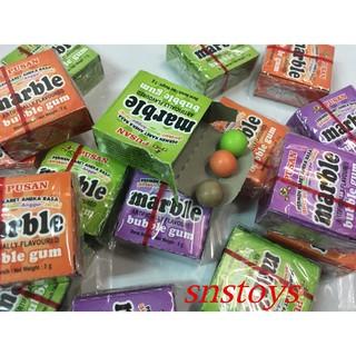 sns 古早味 PUSAN(步山)水果口香糖 彈珠口香糖 彈珠 水果 口香糖 (同 丸川 )50小盒裝
