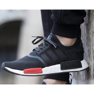 T_shoes Adidas Originals NMD R1 編織 黑紅 AQ4498