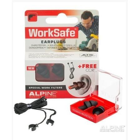 荷蘭原裝進口 Alpine Worksafe頂級工作聽力保護耳塞 黑色款 柔軟材質 配戴舒適 提高工作專注力的 好幫手