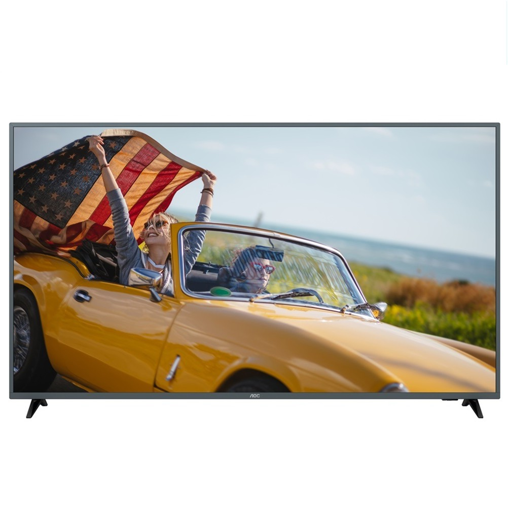 【美國AOC】70吋4K HDR智慧聯網液晶顯示器+視訊盒70U6195 福利機#【送桃園以北 其他地區另計】