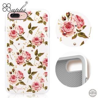 犀牛盾施華洛世奇彩鑽 apbs iPhone7 Plus 手機殼(力與美系列-玫瑰)