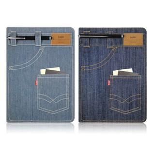 Kalo 卡樂創意 iPad Air 個性丹寧口袋保護套 360度選轉、多角度 站立皮套