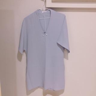 水藍珍珠洋裝