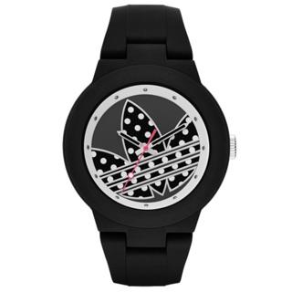 adidas 翻轉世界三葉休閒腕錶-點點x黑ADH3050/42mm