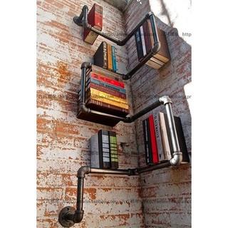 工業風創意水管支架/書架/置物架