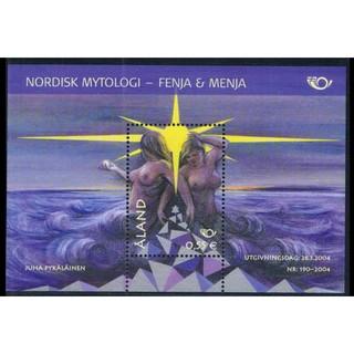 (C560)芬蘭(奧蘭)2004年北歐神話小型張郵票