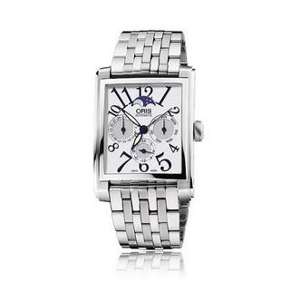 ORIS 豪利時 Rectangular 月相經典機械數字腕錶 /33mm (0158176584061)