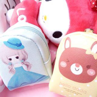 韓國風背包造型零錢包