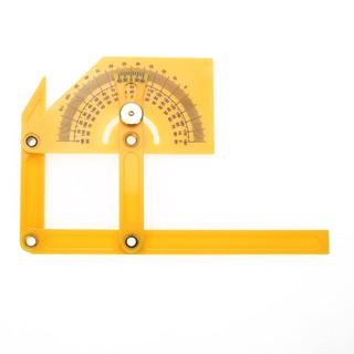 超讚 180°活動塑膠角度尺刻度角尺量角尺 黃色