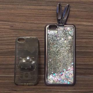 福袋 iphone6/6s plus兔耳朵手機殼、iphone5 hello kitty立體手機殼、髮圈、捲線器、羽毛筆