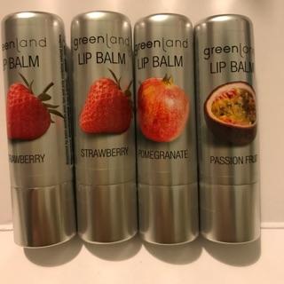 【Greenland 荷蘭天然有機】果漾潤澤護唇膏3.9g 草莓 石榴 百香果