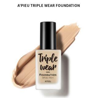 韓國代購  APIEU TRIPLE WEAR超強粉底液