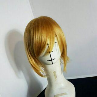全新 cosplay 假髮 金色 短髮