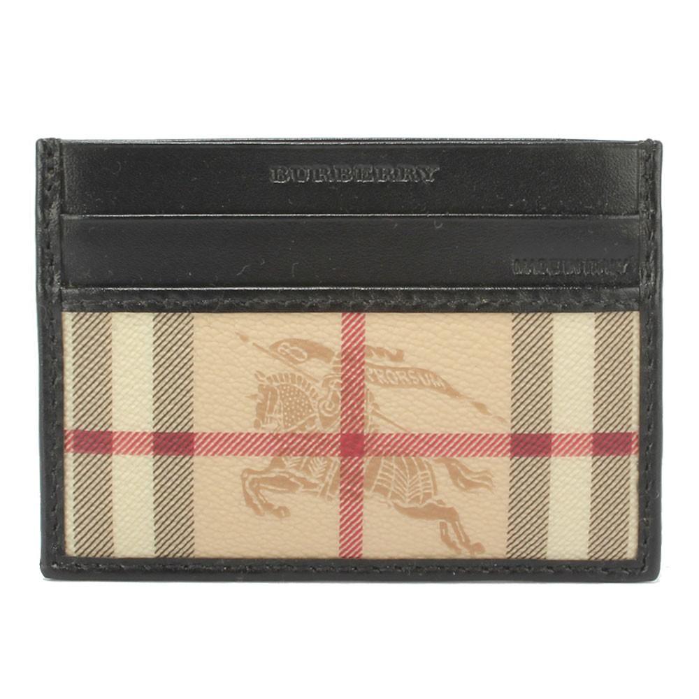 【購名牌】BURBERRY 經典戰馬名片證件夾(黑色)