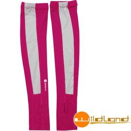 【Wildland 荒野】W1801-09桃紅色Tactel開洞抗UV透氣袖套 抗UV遮陽手套/快乾機車手套/防曬袖套