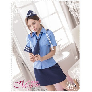 [瑪嘉妮Majani]真正大尺碼- 角色扮演 女警 XL~6XL 質感超好 全套4件組 免運 sc-084