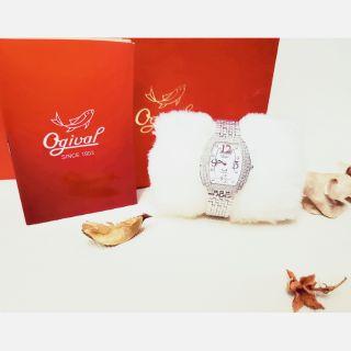 Ogival愛其華 原廠公司貨 燦漾晶華 晶華系列 真鑽 珠寶 腕錶 純銀 真鑽 名錶 貴婦錶 珠寶 精品 專櫃錶