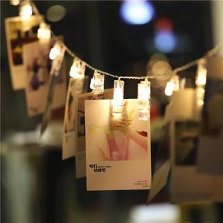 相片創意夾子燈串led彩燈閃燈串燈星星燈ins房間裝飾浪漫照片墻