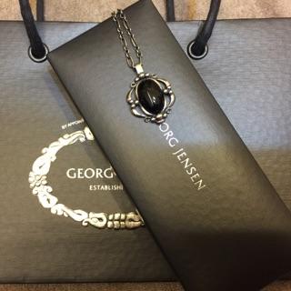 全新Georg Jensen喬治傑生1989復刻黑瑪瑙年度項鍊