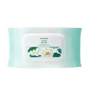 特價預購7/26結單 MAMONDE夢妝 蓮花溫和卸妝紙巾