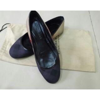 Burberry經典格紋娃娃鞋