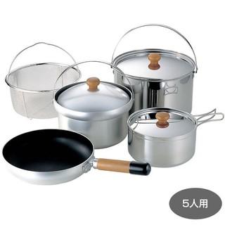 特價加購茶壺收納袋 最後一組 UNIFLAME FAN 5 DX 不鏽鋼鍋具組 660232