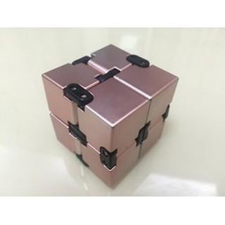 玫瑰金 IC無限翻轉方塊 材質 ABS INFINITE CUBE 無限減壓魔方 指尖魔方玩具 解壓神器 無限方塊 W