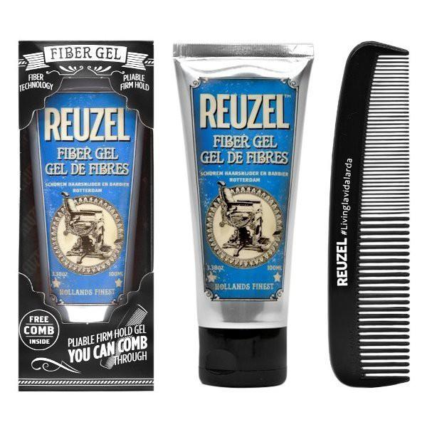 REUZEL FIBER GEL 纖維彈力重塑水性髮膠 100ml 附扁梳/低光澤 小璇