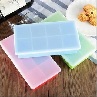 ✨吉吉頁's House 食品級無毒矽膠 副食品 分裝盒 冰磚盒 製冰盒 附蓋 大8格
