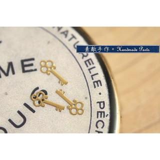 。素敵手作Antique材料。日本UV膠封入小物/美甲金屬貼飾--小鑰匙(一份5片)