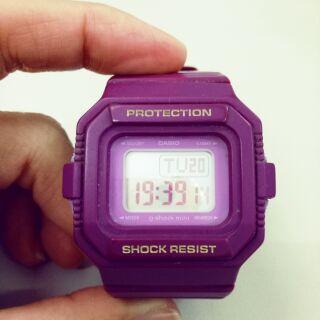 CASIO g-shock mini 紫色手錶