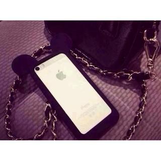 米奇耳朵邊框 蘋果6 5s手機殼卡通矽膠套iPhone6plus 保護殼4S