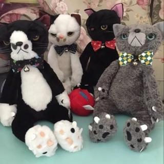 日本正版 不爽貓  臭臉貓 大隻小隻 跩貓 四款 黑 灰 黑白 白黑