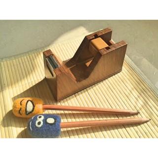 全新日式Zakka 仿木紋 膠帶座 膠帶台 膠帶切割器 膠帶收納 膠台 文具收納櫃 貼布封條 文具小物 辦公室 桌上小物