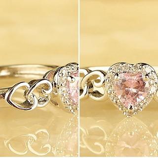 心形設計Lady Band Zircon手指戒指首飾