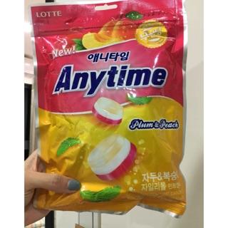 韓國樂天 LOTTE Anytime 三層薄荷糖 涼糖 水蜜桃74g(硬糖)