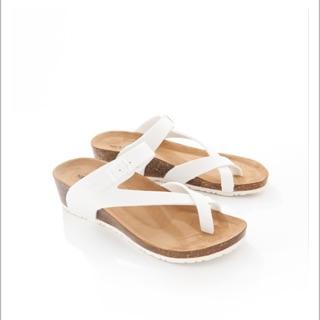 NET女皮質勃肯楔形涼鞋