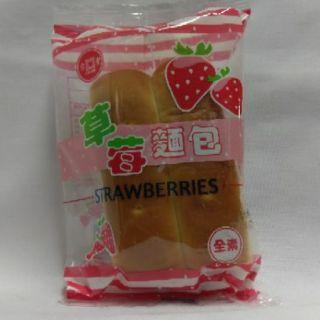 草苺麵包 吉豐 50克/包 古早味 傳統 復古 小時候 回憶 草莓夾心麵包 草莓 夾心 麵包