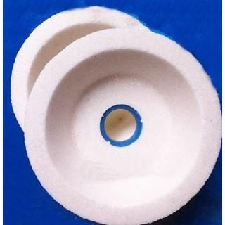 樂成@ 4吋白剛玉碗型砂輪 100*35*20mm砂輪片 白玉剛切布刀砂輪白剛玉陶瓷砂輪 一標1個