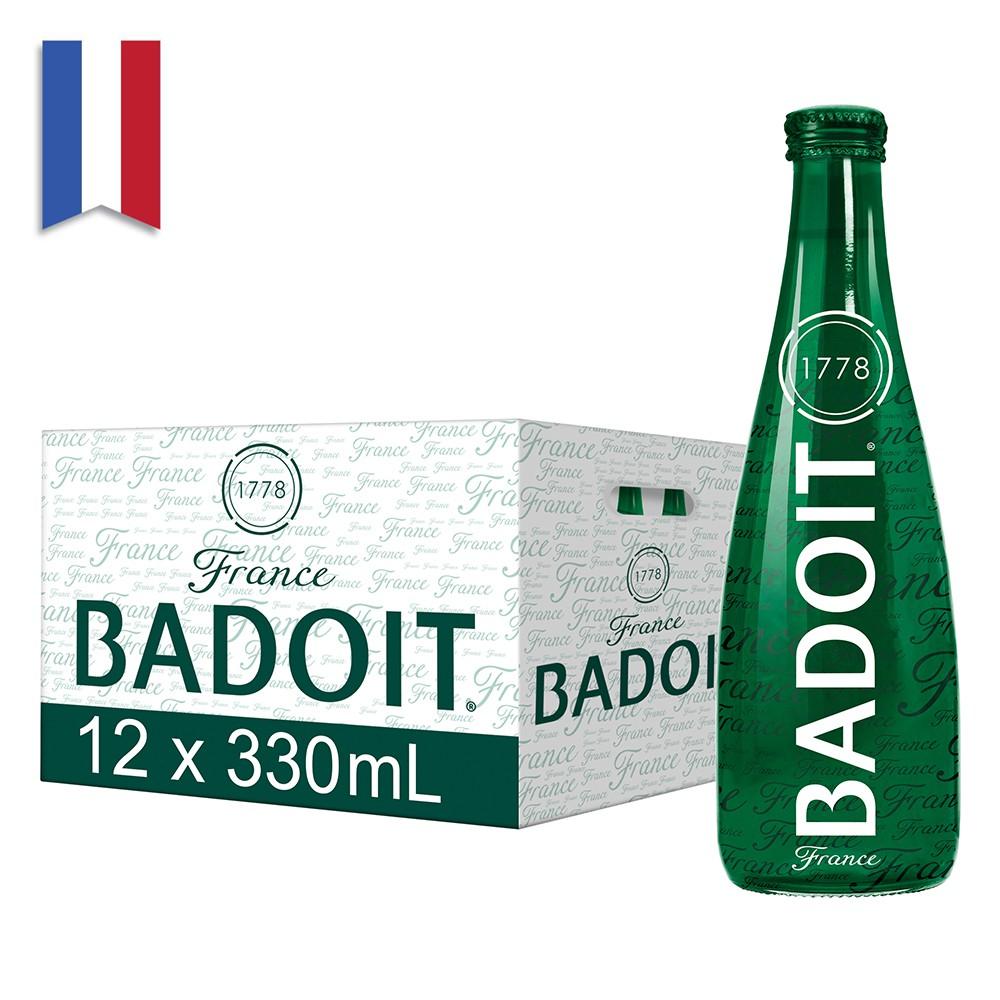 法國BADOIT波多天然氣泡水礦泉水(330mlx20入玻璃瓶)【台灣官方BADOIT】