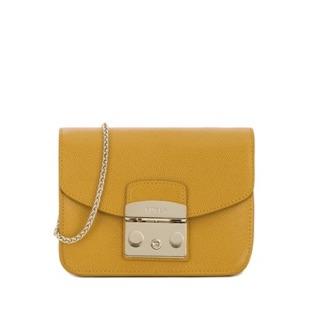 Furla metropolis 經典款斜背小包 mini bag crossbody amber黃