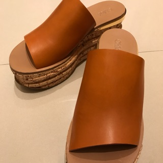 Chloe suede wedge 厚底涼鞋