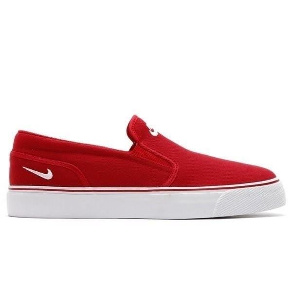 【蟹老闆】【現貨】NIKE TOKI SLIP TXT 懶人鞋 素麵 無鞋帶 紅色 男生版型