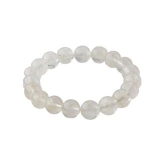 徐美人VS慧✒ 天然白月光石散珠月亮石圓珠DIY飾品水晶佛珠串手鏈做項鏈