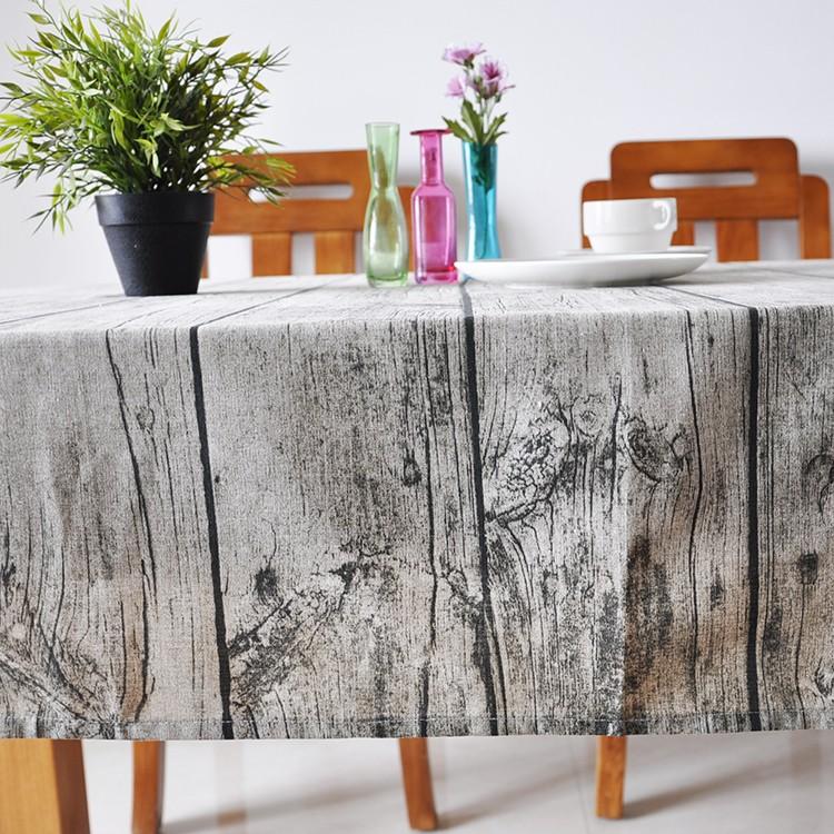 桌巾 ~ 直木紋棉麻桌布 檯布 樹皮紋 尺寸  詳規格說明