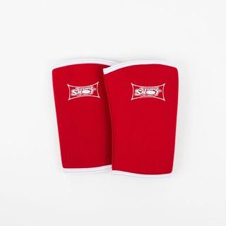 【超級訓練】紅色動態彈性「三級防護」專業健身護膝